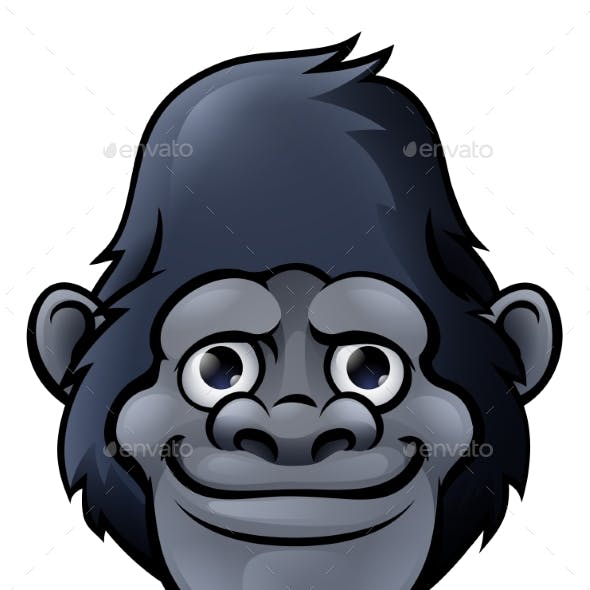 Cartoon Gorilla Face
