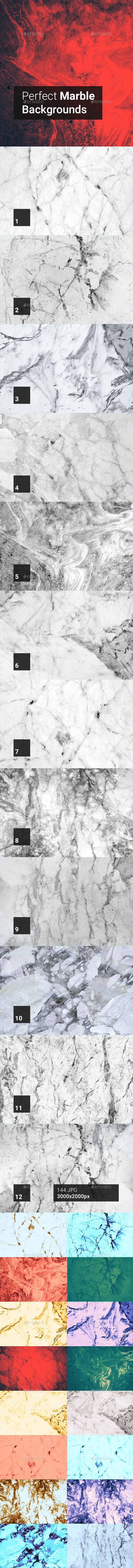 144 Perfect Marble Backgrounds - Abstract Backgrounds