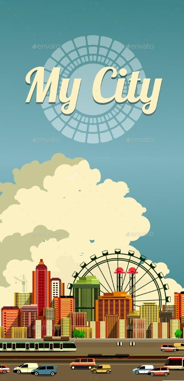 Urban City Flyer - Buildings Objects
