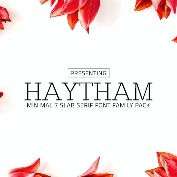 Haytham Minimal Slab Serif Typeface