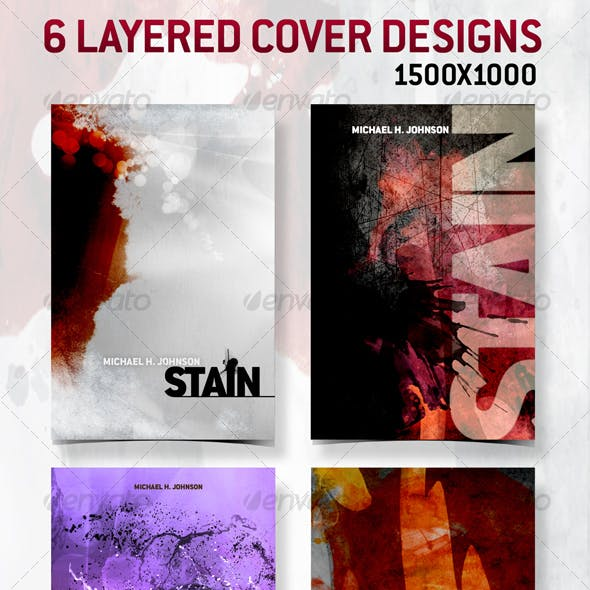 6 Layered Cover Designs - 1500x1000