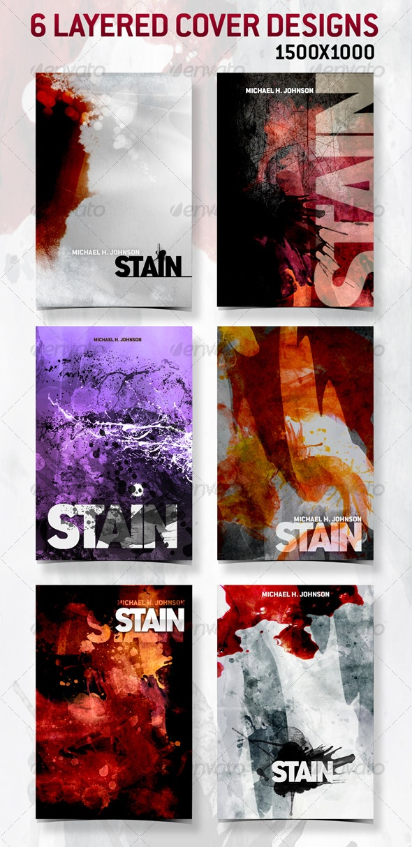 6 Layered Cover Designs - 1500x1000 - Miscellaneous Print Templates