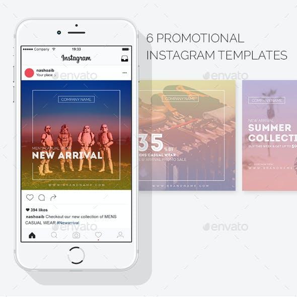 Modern Instagram Promotional Templates