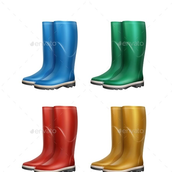 Set of Rubber Boots