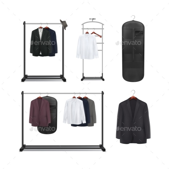 Set of Clothes Racks - Man-made Objects Objects