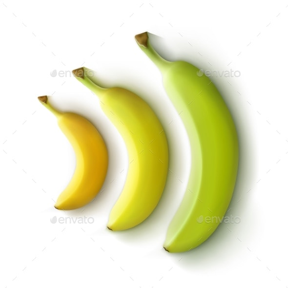 Set of Bananas - Food Objects