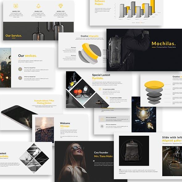 Mochilas - Creative PowerPoint Template
