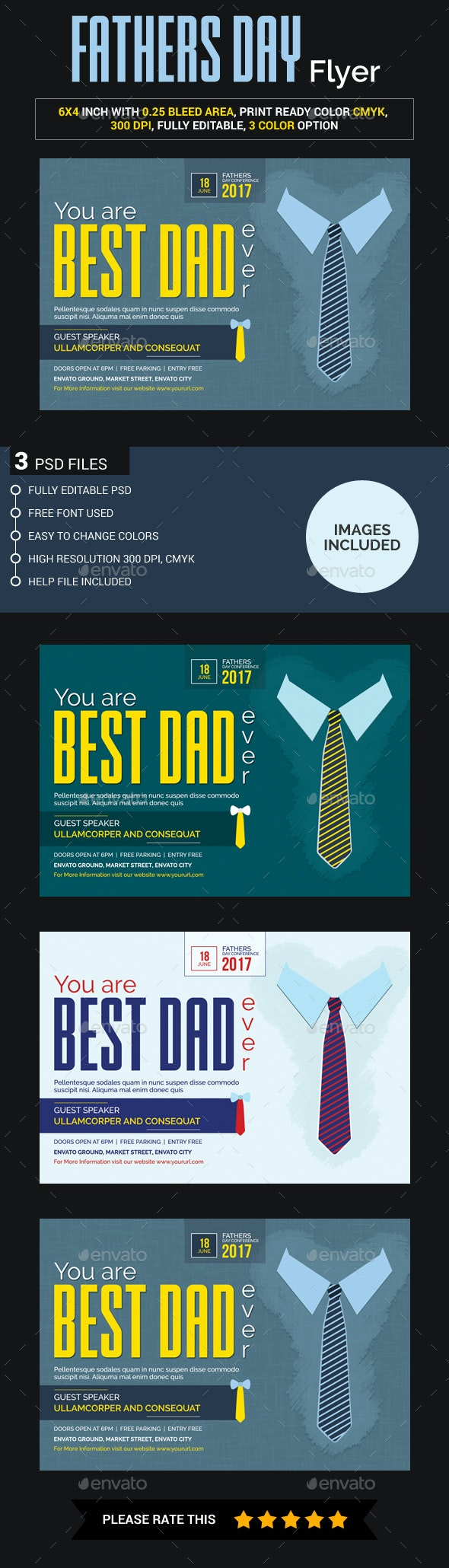 Father's Day Flyer - Concerts Events