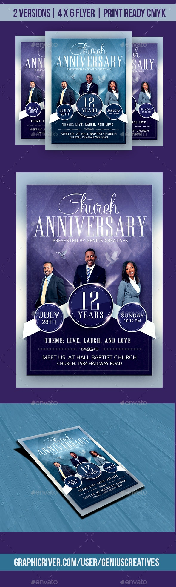 Church Anniversary Flyer Template - Church Flyers