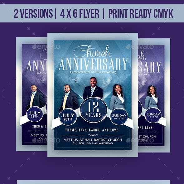Church Anniversary Flyer Template