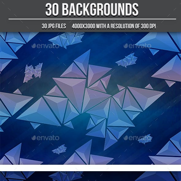 30 Abstract Triangle Backgrounds