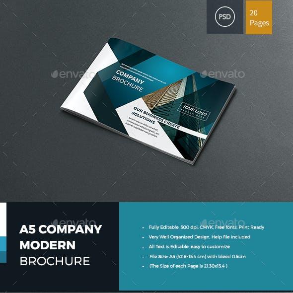 A5 Company Modern Brochure
