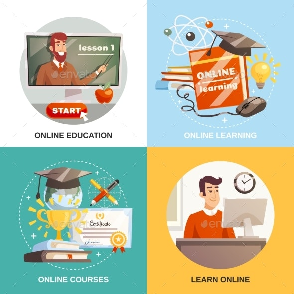 Online Learning 2X2 Design Concept - Computers Technology