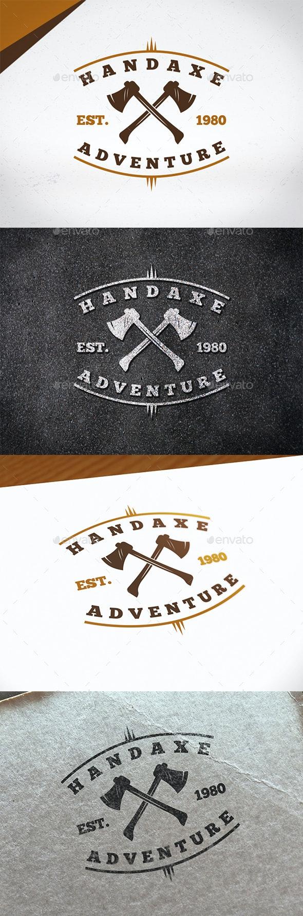 Hand Axe Logo Template - Crests Logo Templates