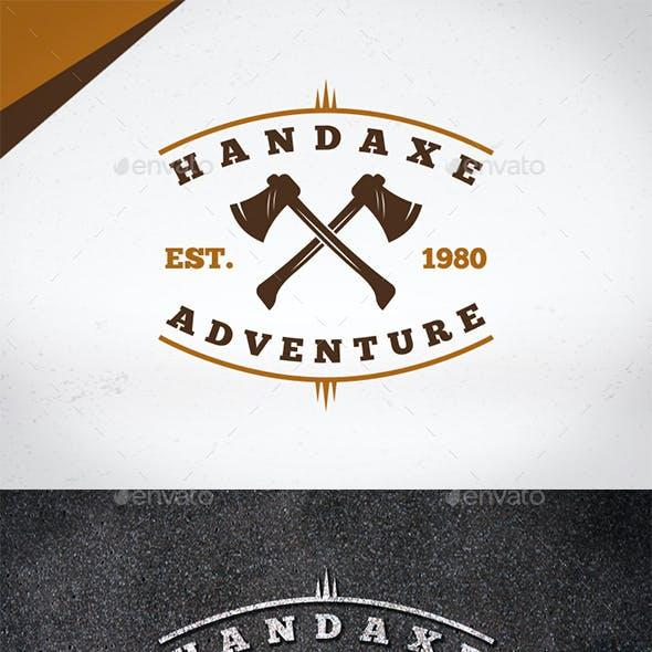 Hand Axe Logo Template