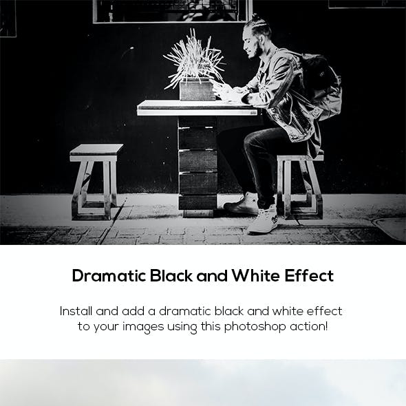 Dramatic Black and White Effect