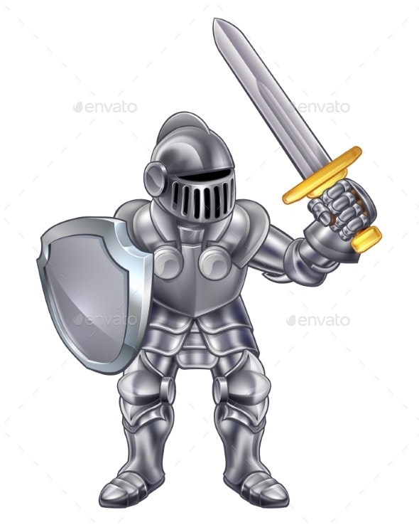 Knight Cartoon Mascot - People Characters