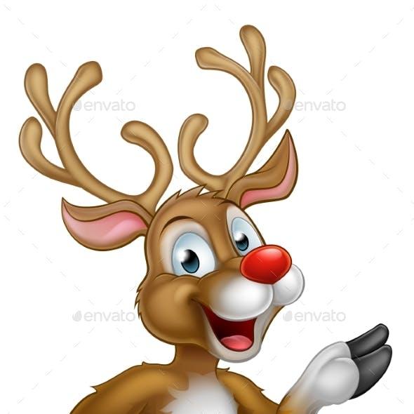 Cartoon Christmas Reindeer Character