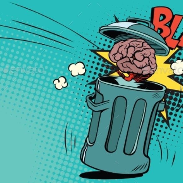 Human Brain Is Thrown in the Trash
