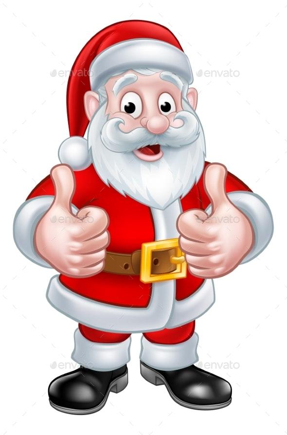Santa Claus Christmas Cartoon Character - Seasons/Holidays Conceptual