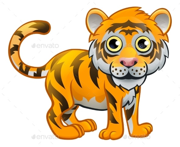 Tiger Animal Cartoon Character - Animals Characters