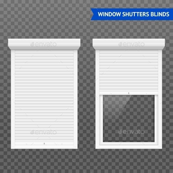 Window Roller Shutters Set