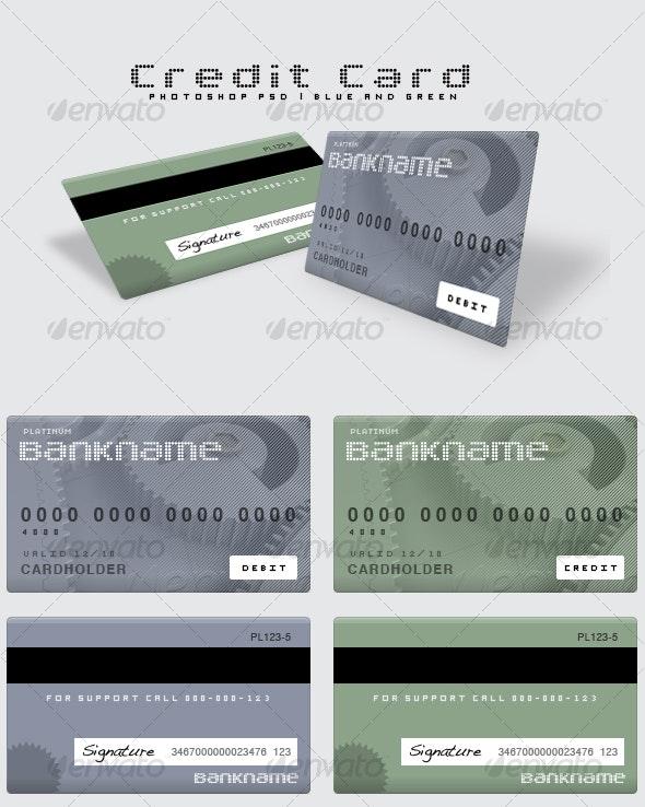 Flexible Photoshop Credit Card - Miscellaneous Graphics