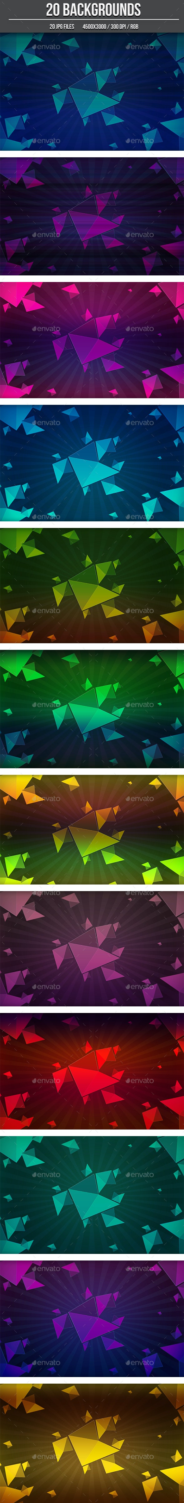 20 Abstract Background Shapes - Abstract Backgrounds