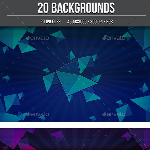 20 Abstract Background Shapes