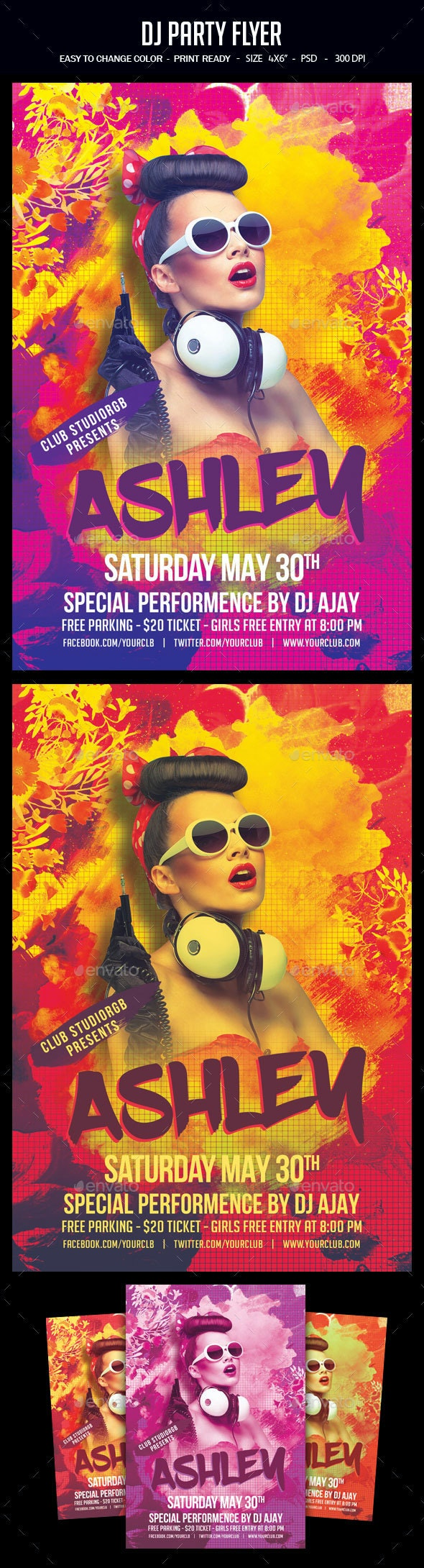 Dj Party Flyer - Clubs & Parties Events