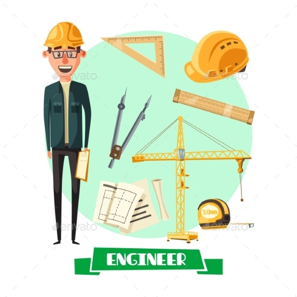 Engineer with Tool Icon for Profession Design - Industries Business