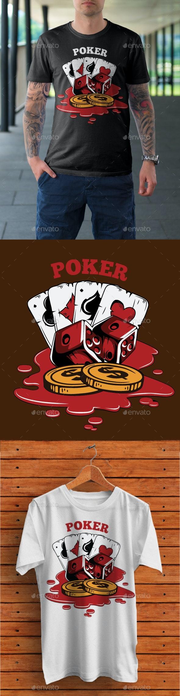 Poker T-Shirt Design - Clean Designs
