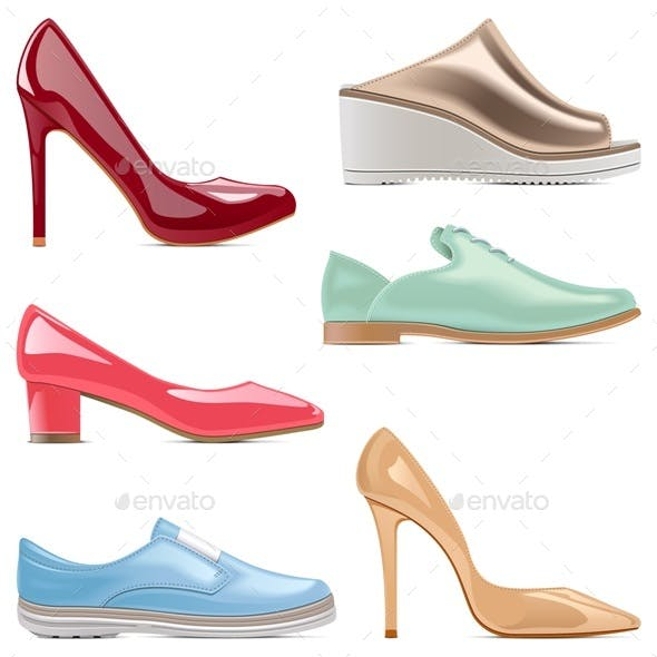 Vector Fashion Shoes