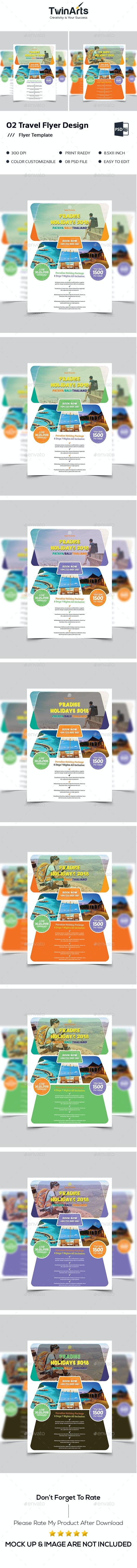 Travel Flyer Design. - Flyers Print Templates