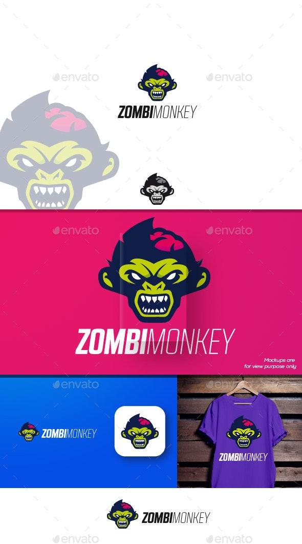 Zombimonkey Logo - Animals Logo Templates