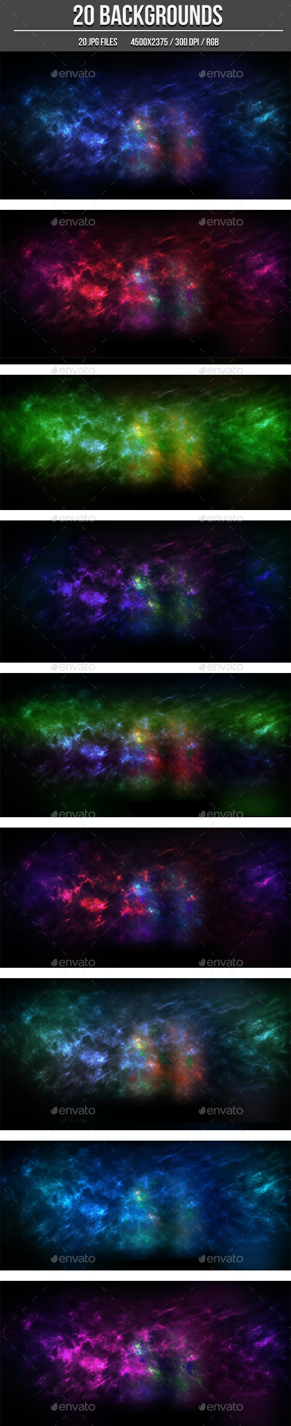 20 Nebula Backgrounds - Abstract Backgrounds