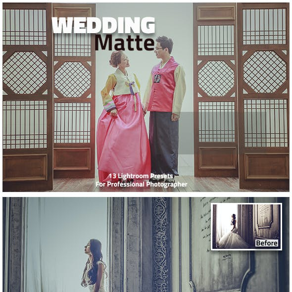 13 Wedding Matte Lightroom Presets