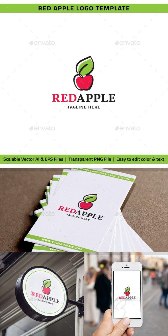 Red Apple Logo - Nature Logo Templates