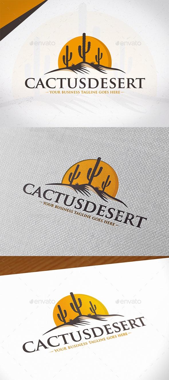Cactus Desert Logo Design - Nature Logo Templates