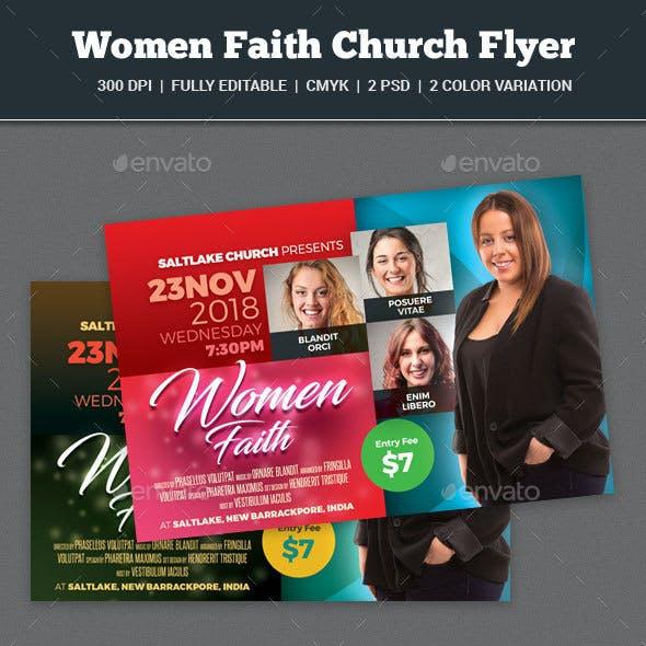 Women Faith Church Flyer