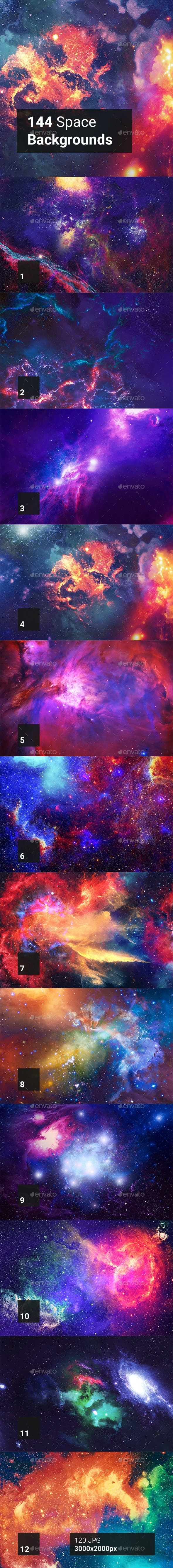 144 Space Backgrounds - Abstract Backgrounds