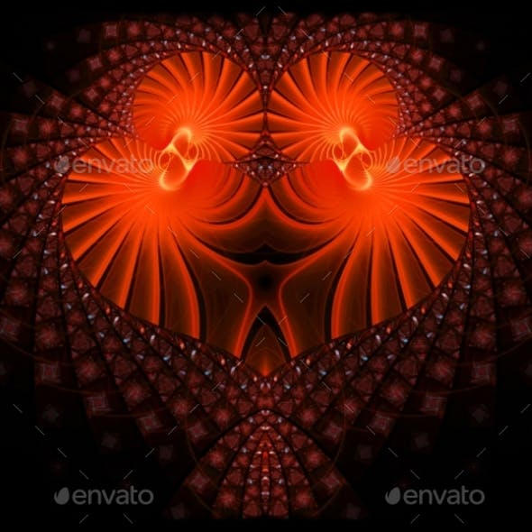 Symbolic Diamond Heart-shaped Red Heart That