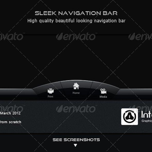 Sleek Navigation Bar