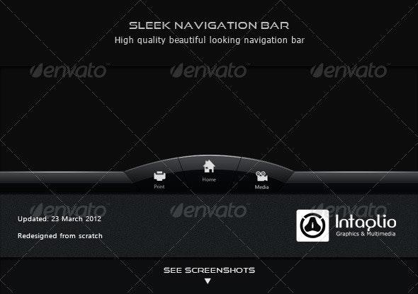 Sleek Navigation Bar - Navigation Bars Web Elements