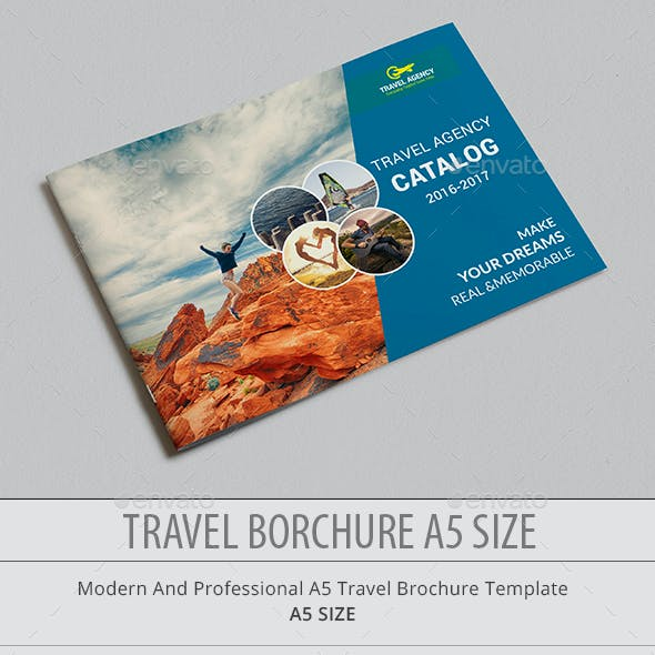 Travel Agency Catalog A5 Size