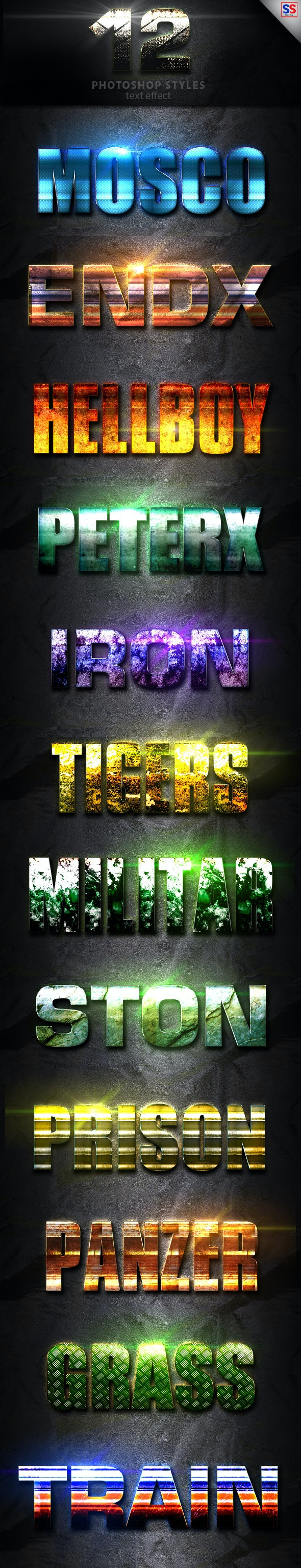 12 Light Photoshop text Effect Vol 15 - Text Effects Styles