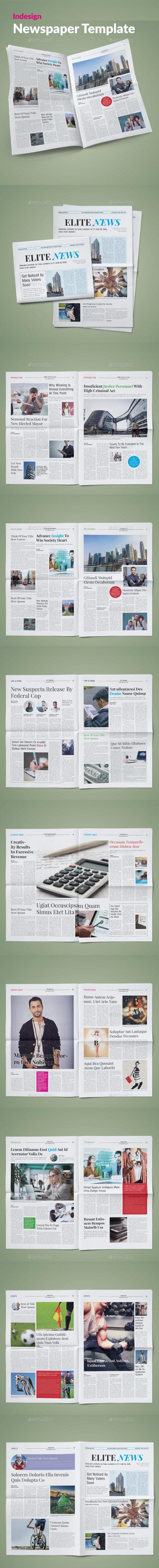 Elite News Newspaper Template