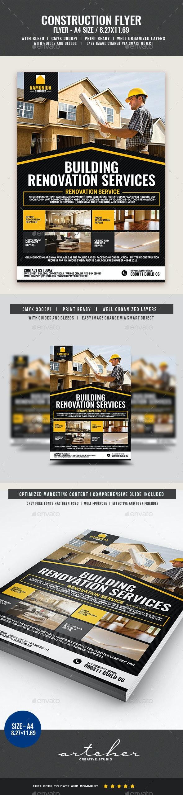 Home Renovation Service Flyer - Corporate Flyers
