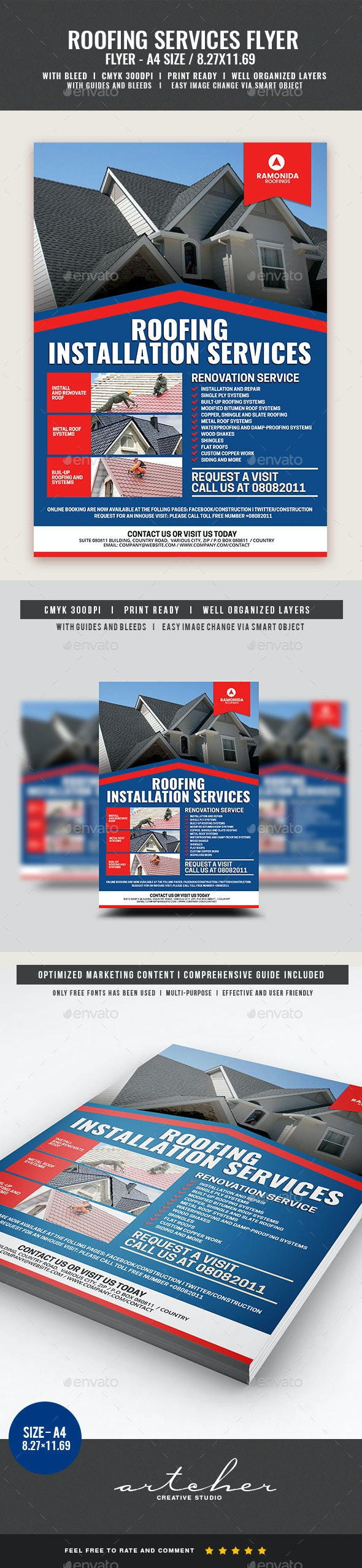 Roofing Services Flyer - Corporate Flyers