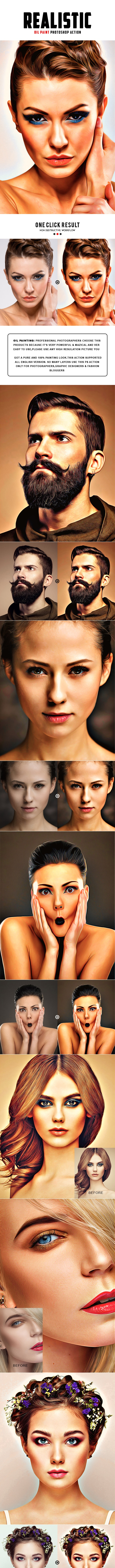 Realistic Oil Painting Photoshop Action - Photo Effects Actions